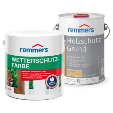 Holzschutz-Grund 2.5 л (1 банка) + Wetterschutz-Farbe 2.5 л (2 банки)